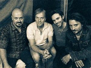 Backstage: Bojan Z, Thomas Bramerie, Fabrice Moreau et Tobias Preisig